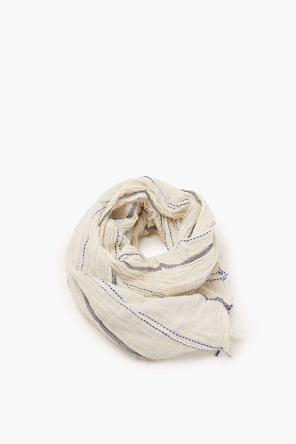 Scarf in a nautical striped look, made of soft blended cotton