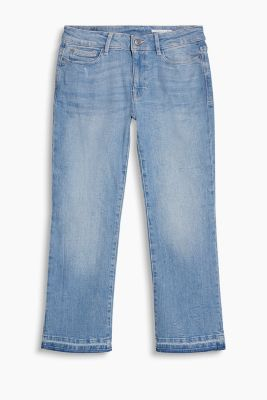 Cropped flared jeans with stretch
