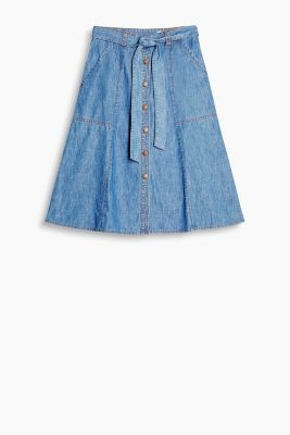 Midi denim skirt, 100% cotton