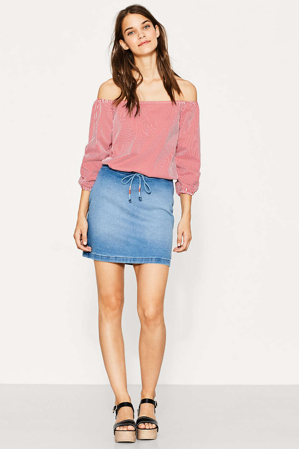 edc - Super soft denim skirt at our Online Shop