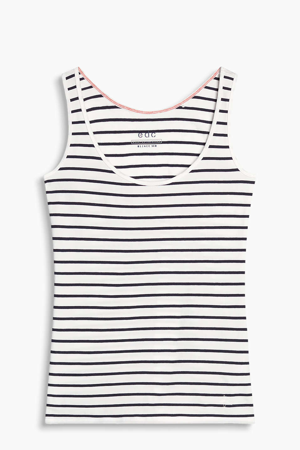 Vest in a striped look with added stretch for comfort