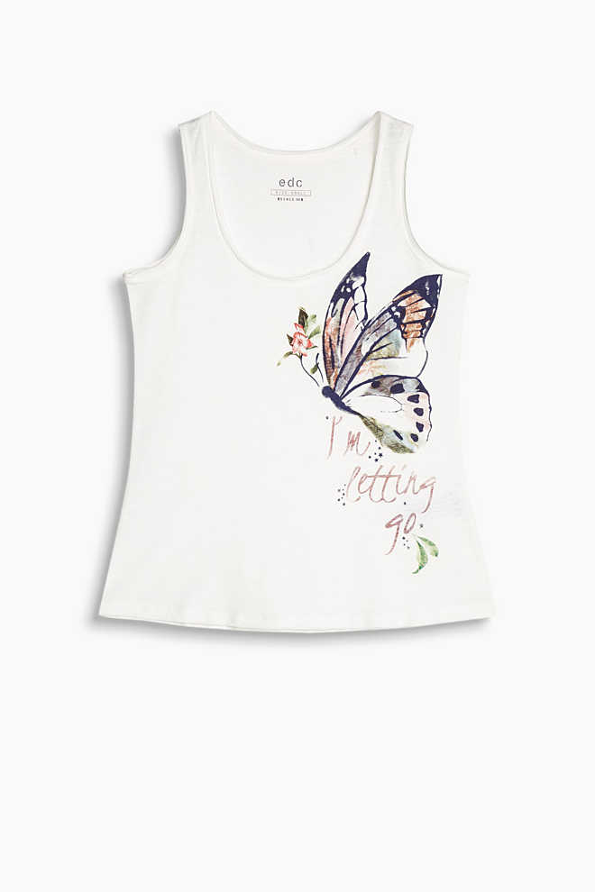 EDC / Printed vest, 100% cotton