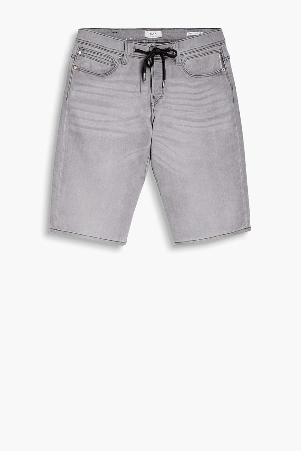 Im Jogg-Pants-Look: Bermuda-Short aus super-leichtem Stretch-Denim