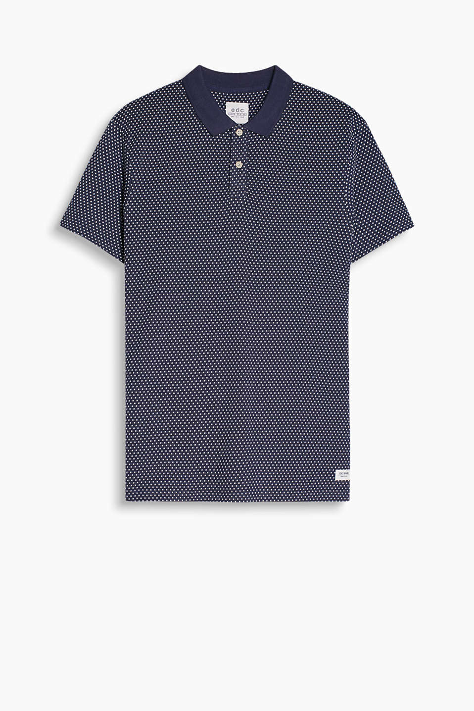 100% cotton polo shirt made of lush jacquard fabric