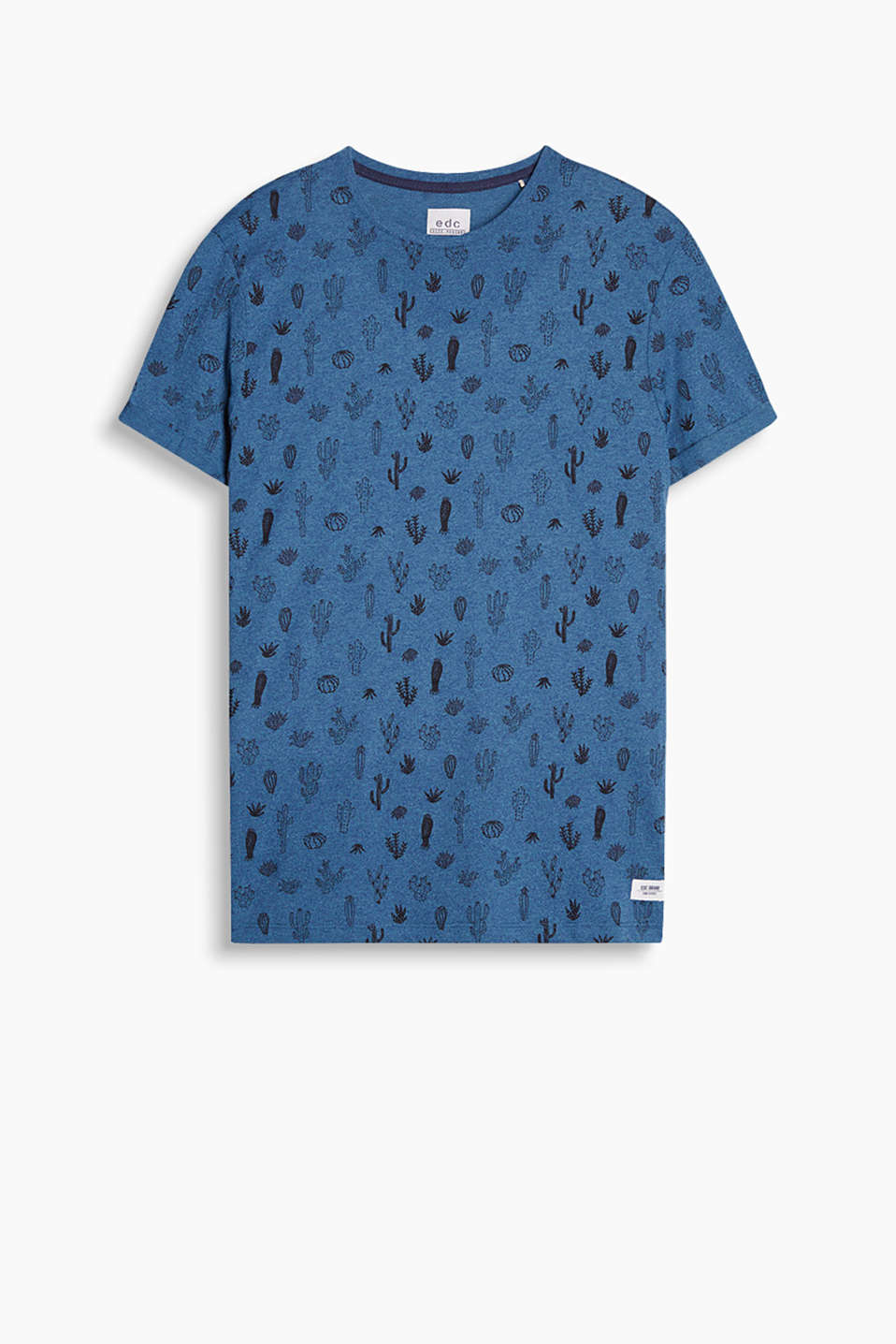 En doux coton mélangé : t-shirt à imprimé all-over