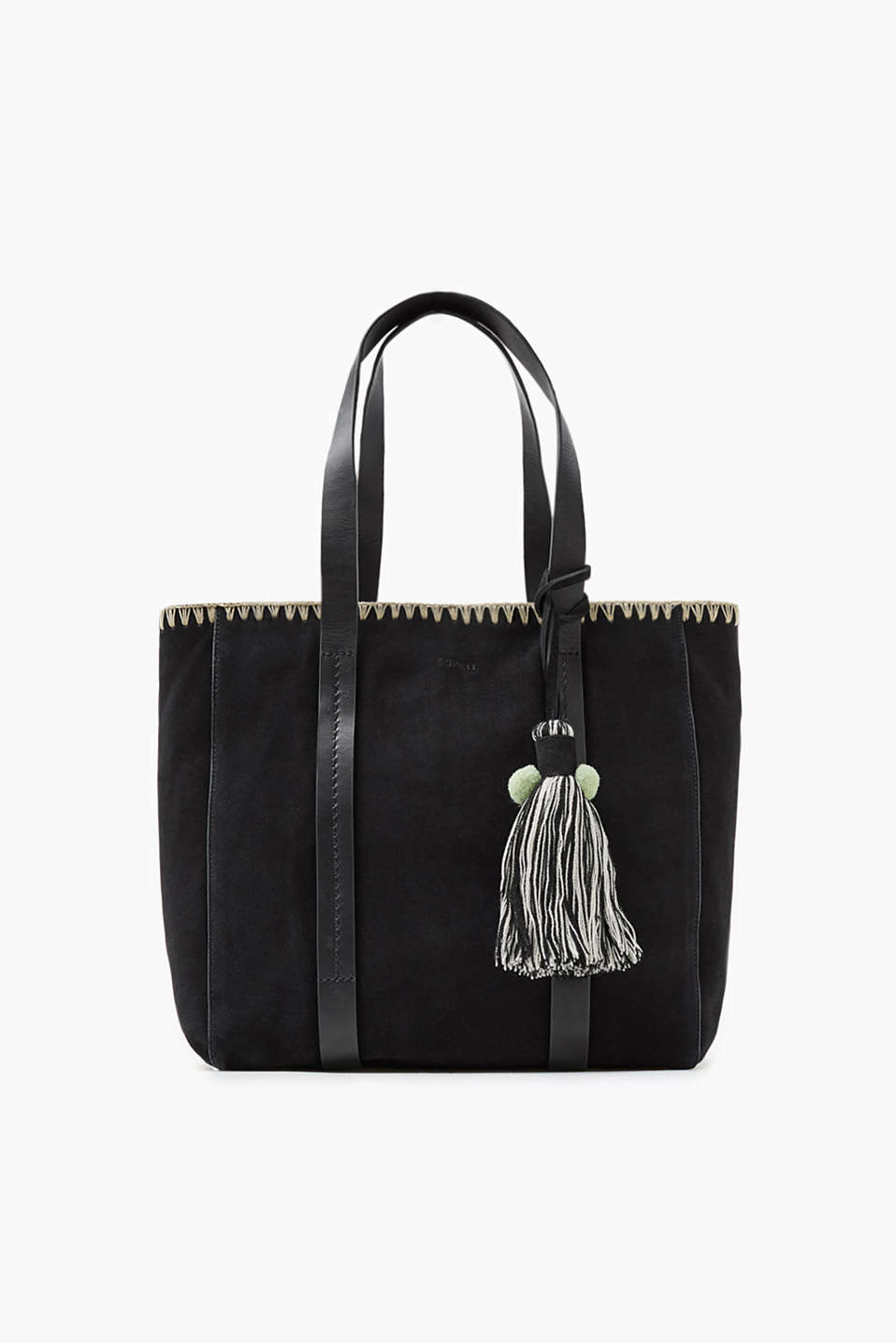 Made of soft cowhide leather: material mix shopper