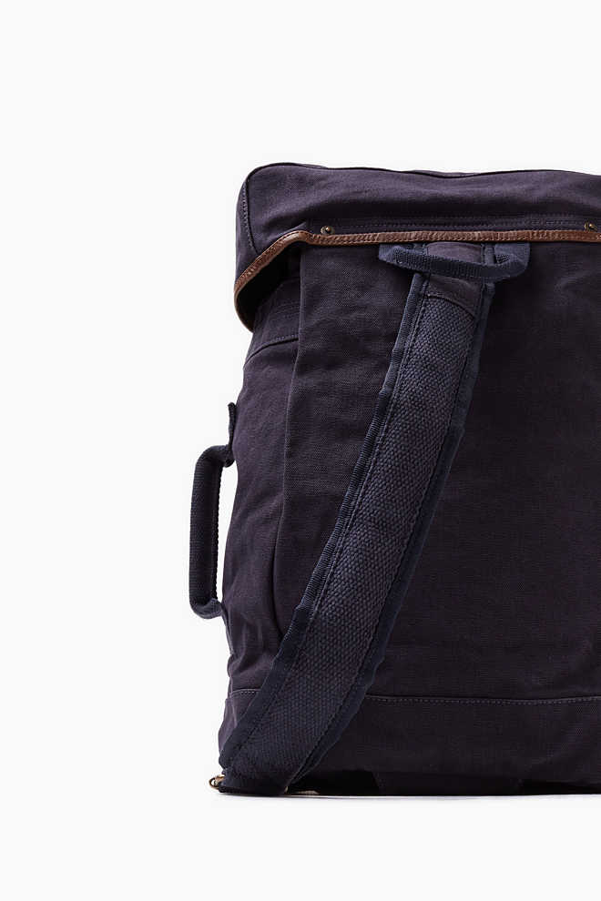 esprit rucksack auf canvas mit leder details im online shop kaufen. Black Bedroom Furniture Sets. Home Design Ideas