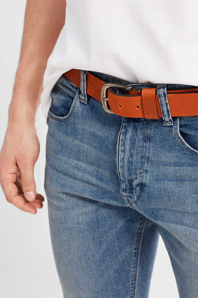 Esprit / Vintage-style leather belt