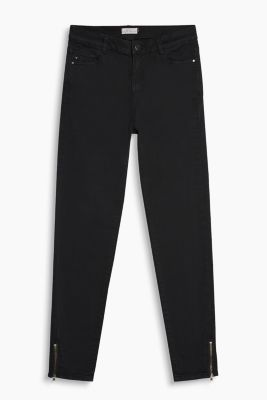 Verkürzte High-Waist-Pants mit Stretch