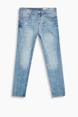 Softe Stretch-Denim mit Knopfleiste