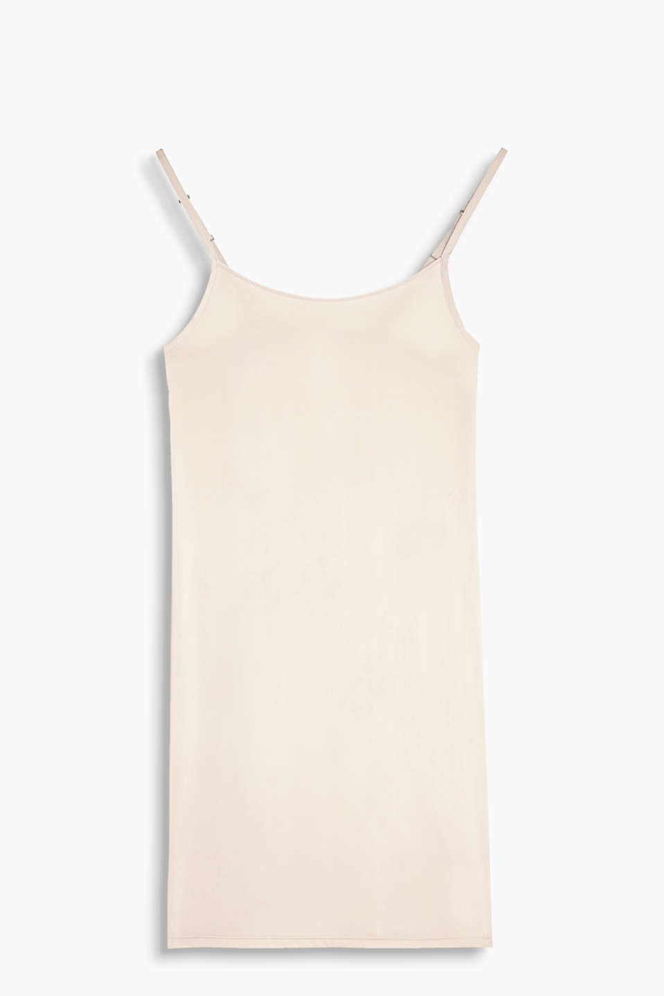 Collection: BROOME - Silky chemise in a minimalist style with adjustable spaghetti straps