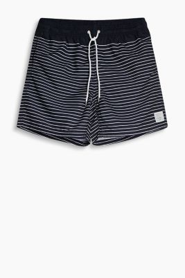 Bade-Shorts in maritimem Ringel-Look
