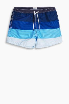 Geringelte Bade-Shorts mit Colourblocking