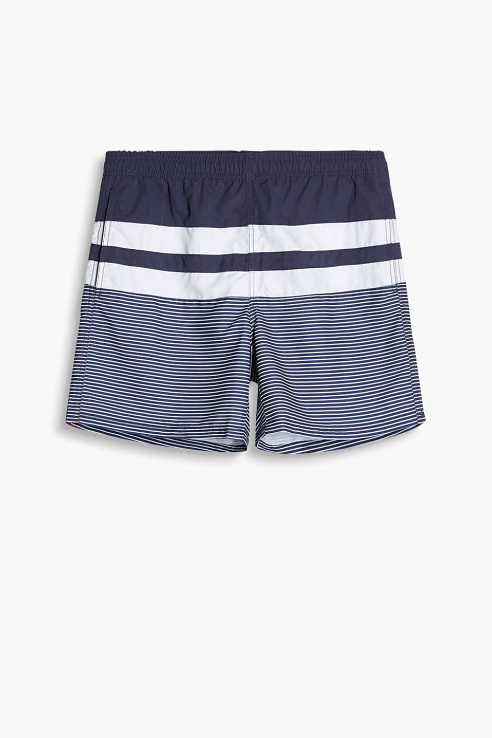Collection: FLORIDA BAY - swim shorts with stripes and block stripes, slit pockets and an elasticated waistband