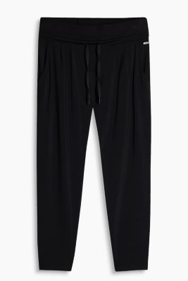 Lockere Capri-Pants aus Jersey/Stretch