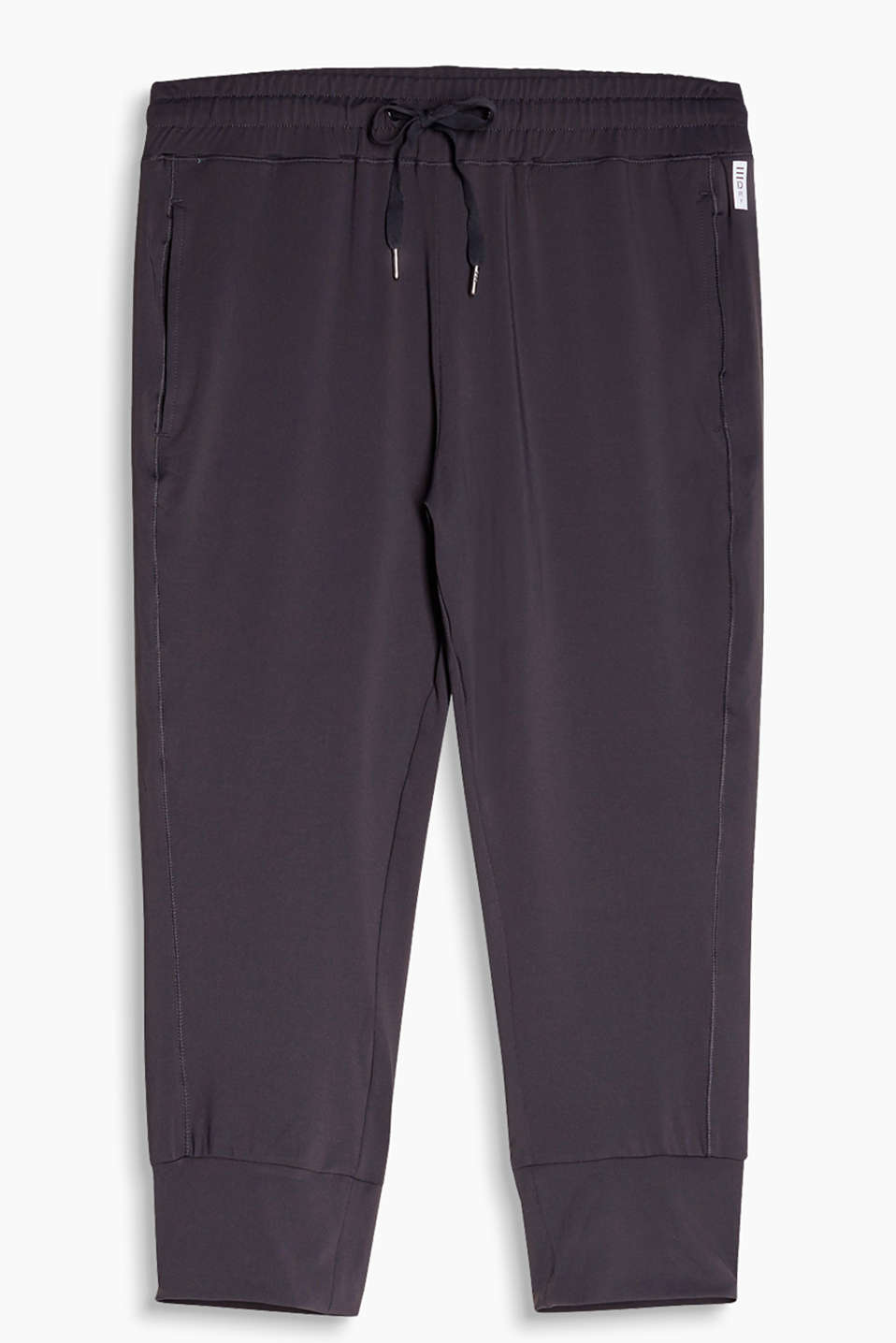 Activewear capris with cuffs, E-DRY