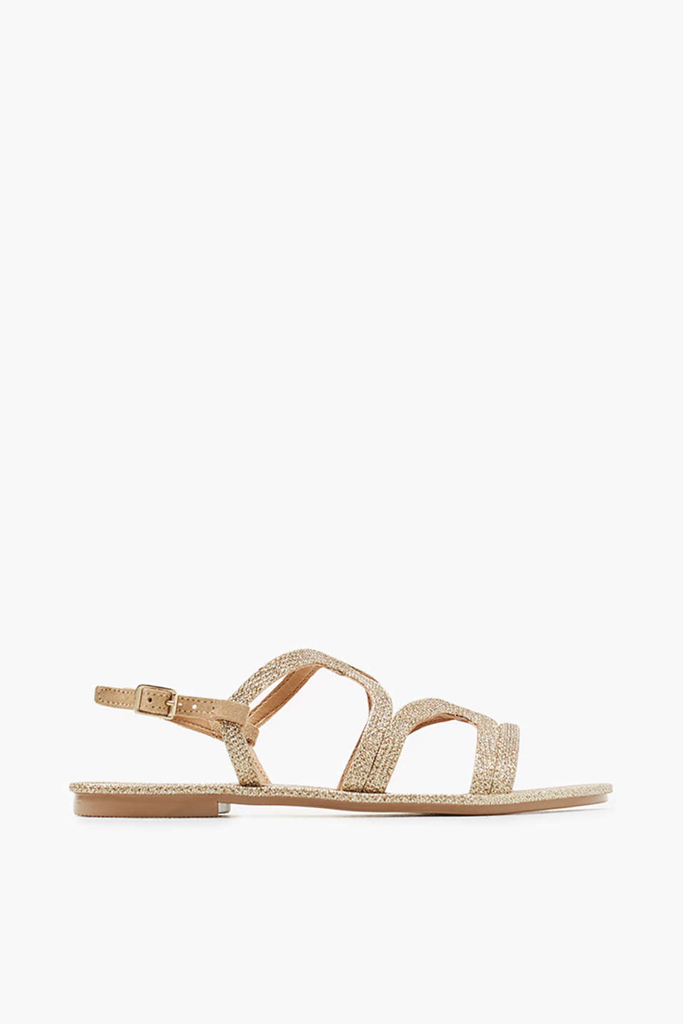Sandals in an elegant glittery look with cork sole