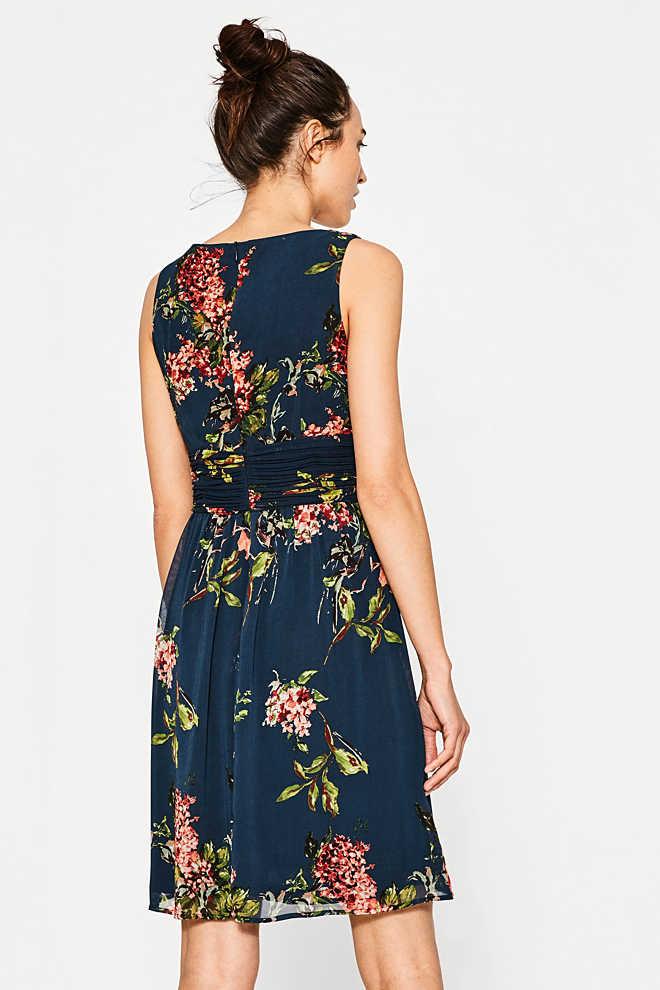 Esprit - Leichtes Chiffon-Kleid mit Blumen-Print im Online ...