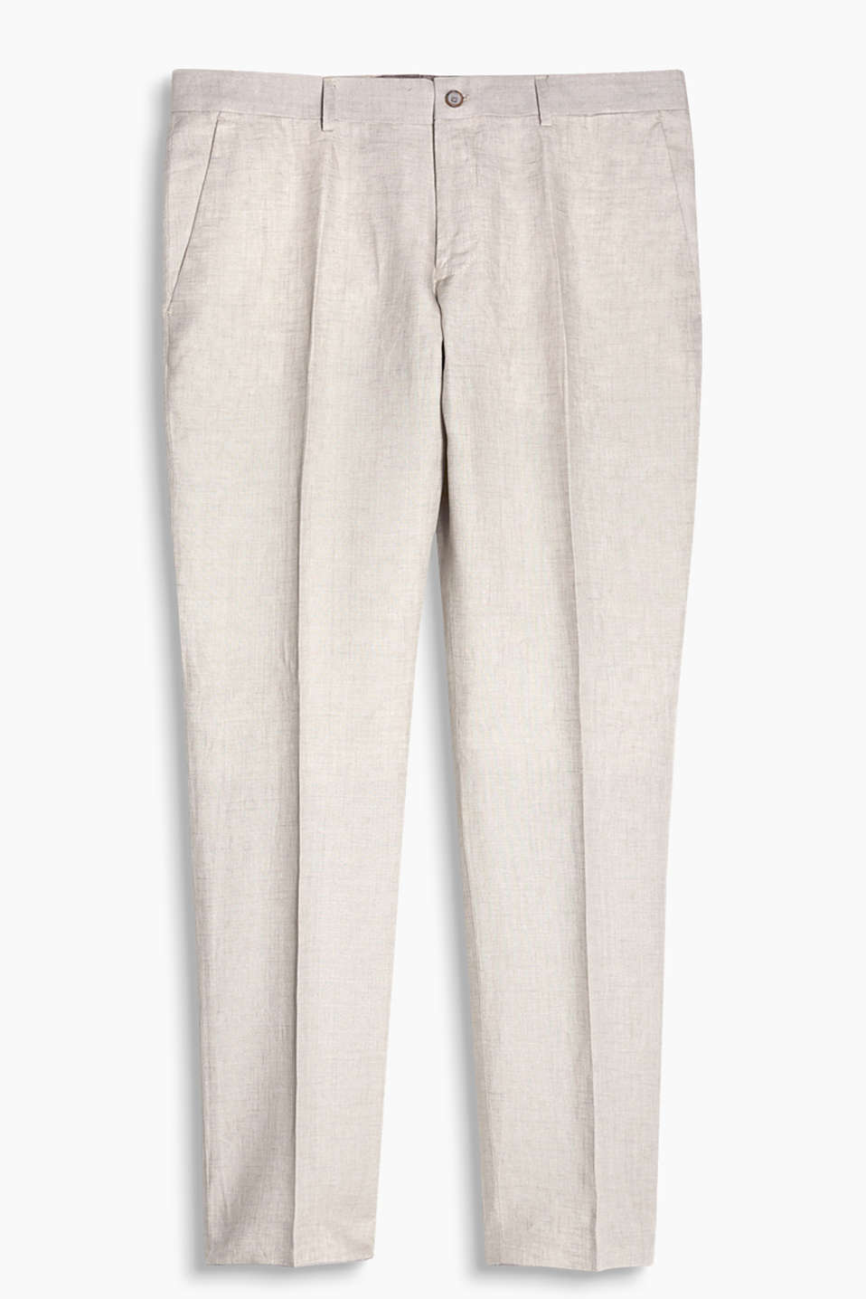 Suit trousers made of cool pure linen in a summery style