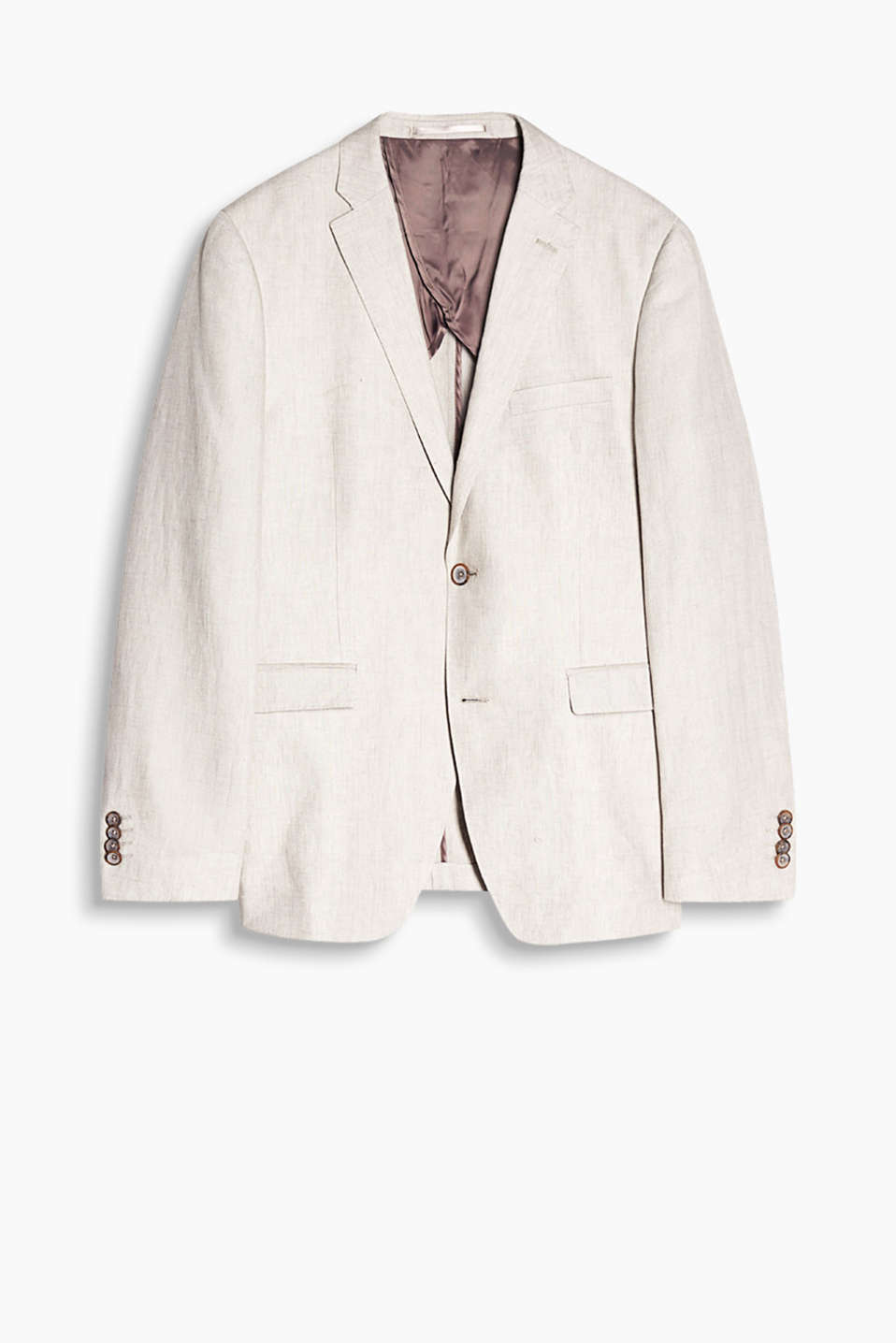 Jacket in a summery style, made of pure linen with a cool texture