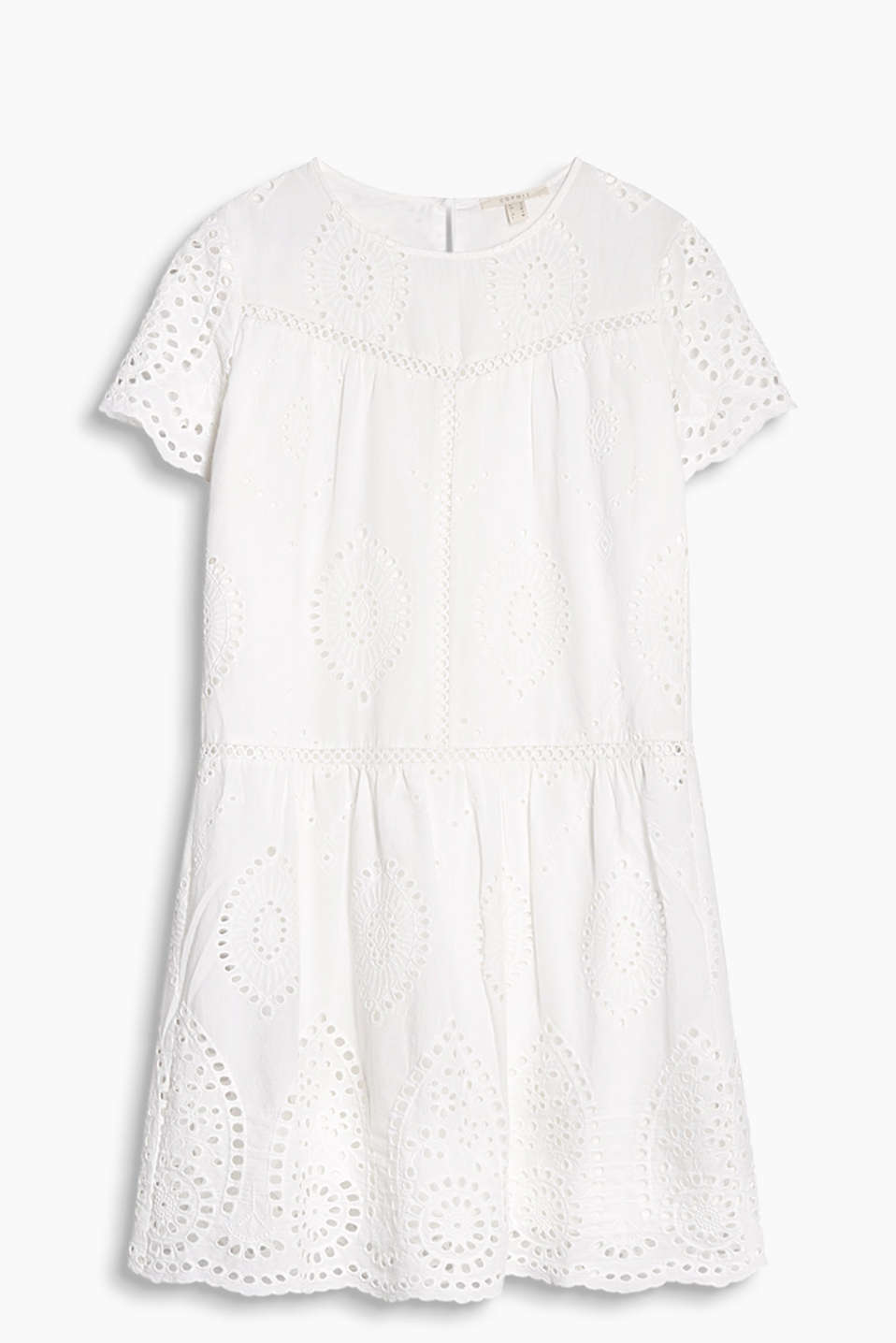 Robe vaporeuse à belle broderie anglaise, 100 % coton