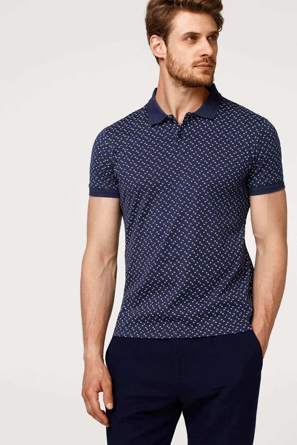 a7ea250792d Esprit Jersey polo shirt with minimal print, in cotton at £25   love ...