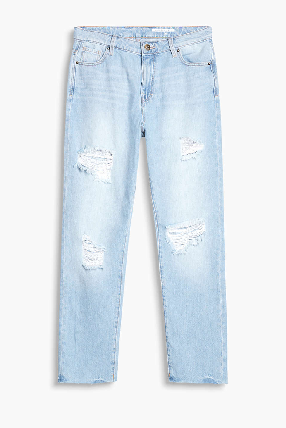Jeans with washed effects made of 100% cotton