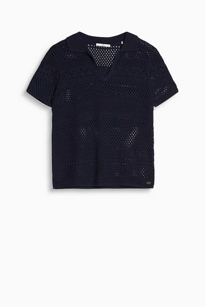 EDC / Polo shirt in crocheted lace