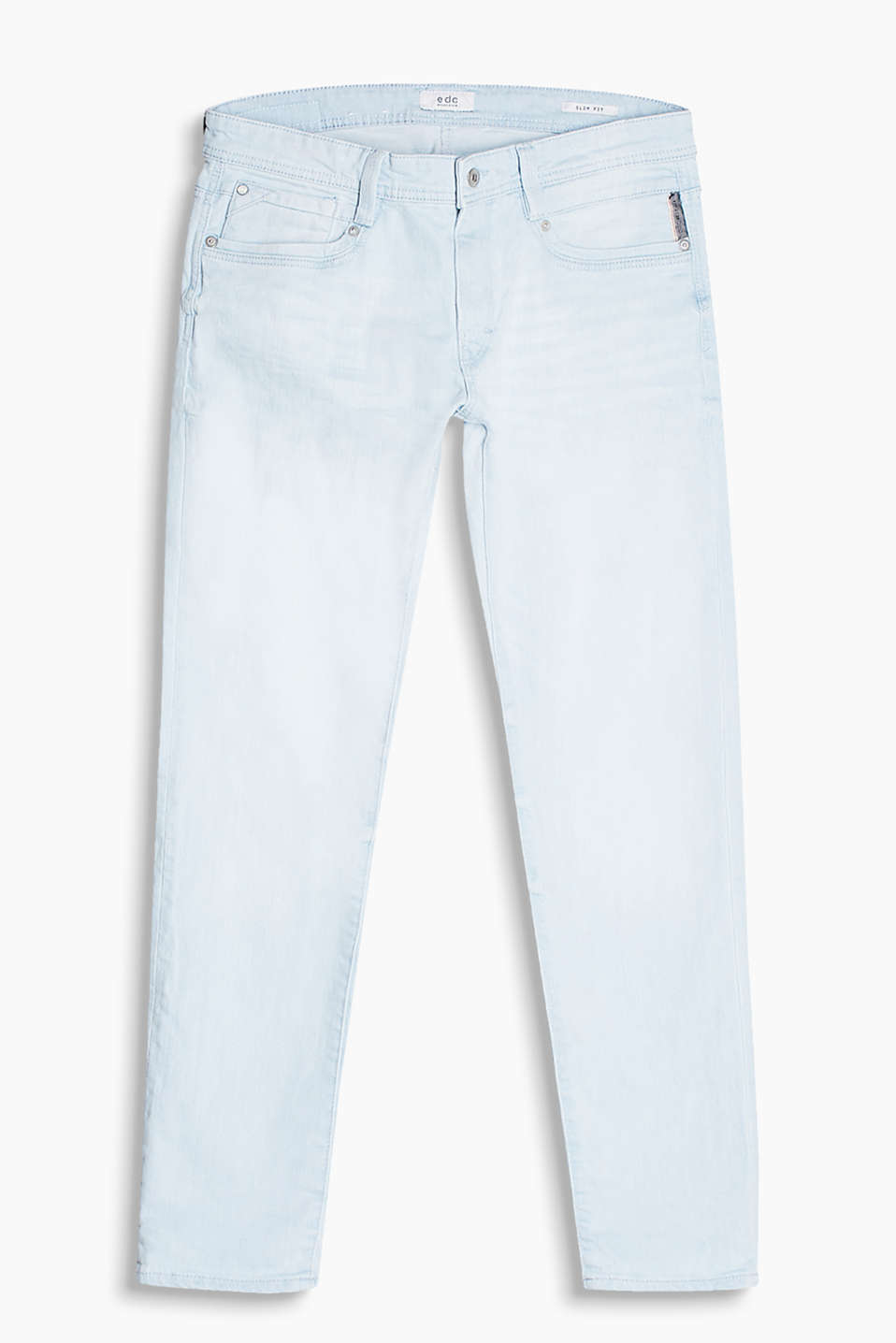 Comfy stretch jeans with urban garment-washed effects