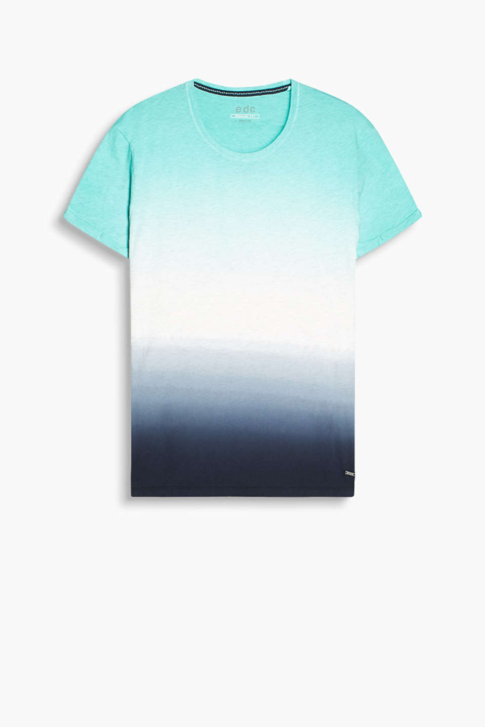With trendy graduated colours: cotton rich jersey T-shirt