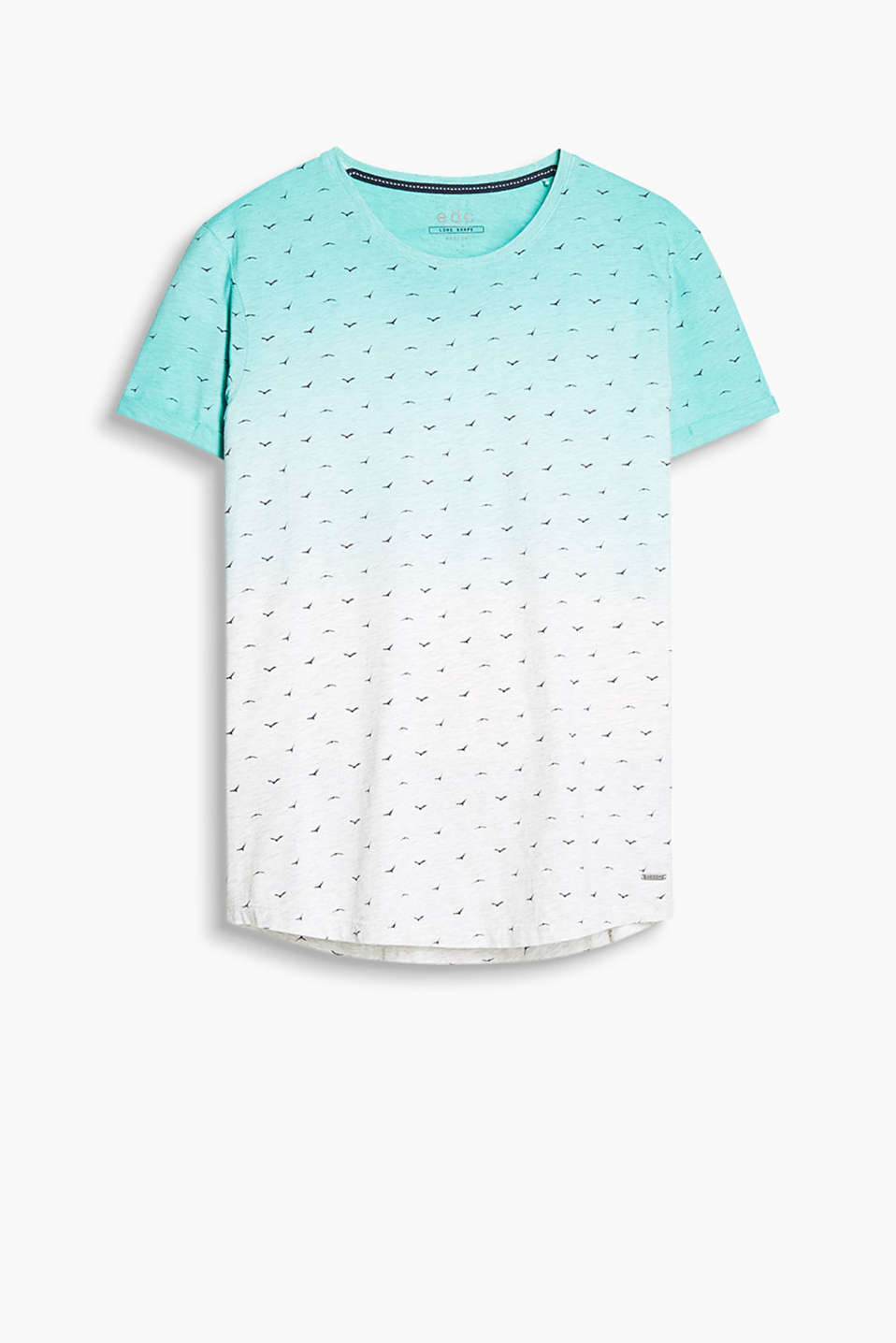 Graduated colour T-shirt made of 100% cotton