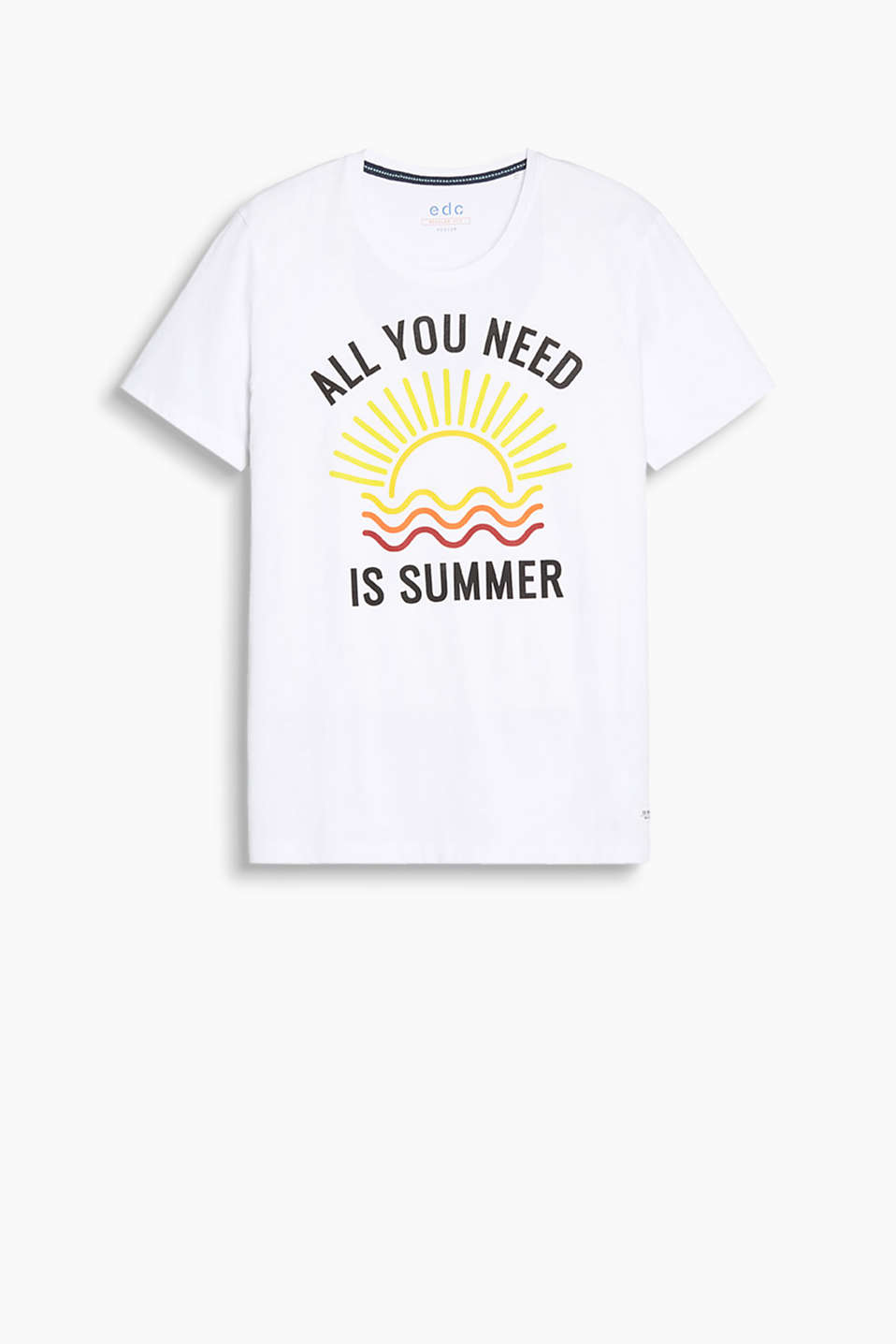 T-shirt made of 100% cotton with summery print