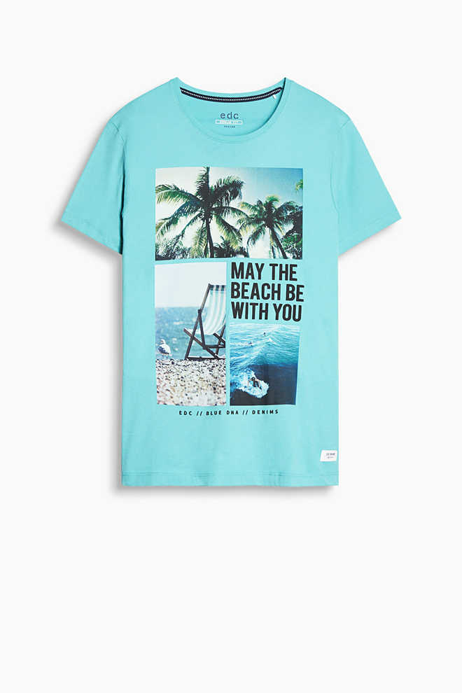 EDC / Photo print T-shirt, 100% cotton