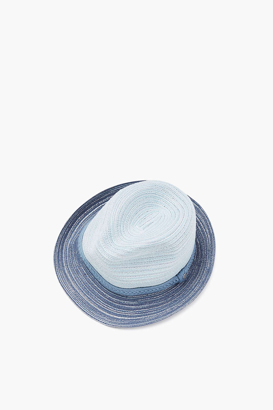 With a colour-coordinating woven hat band: hat in a nautical look