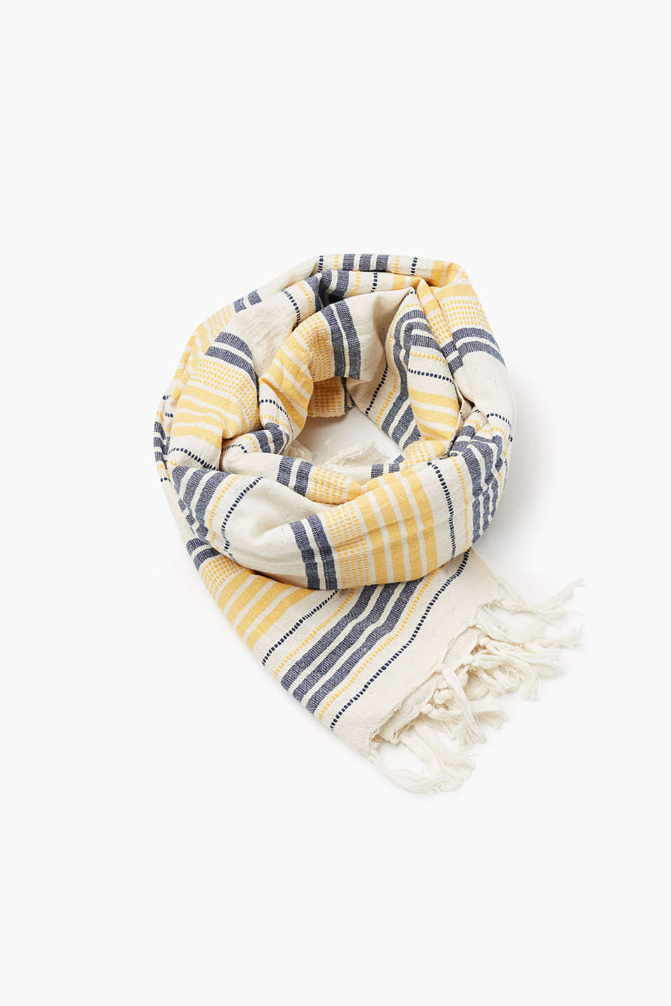 with irregular woven stripes
