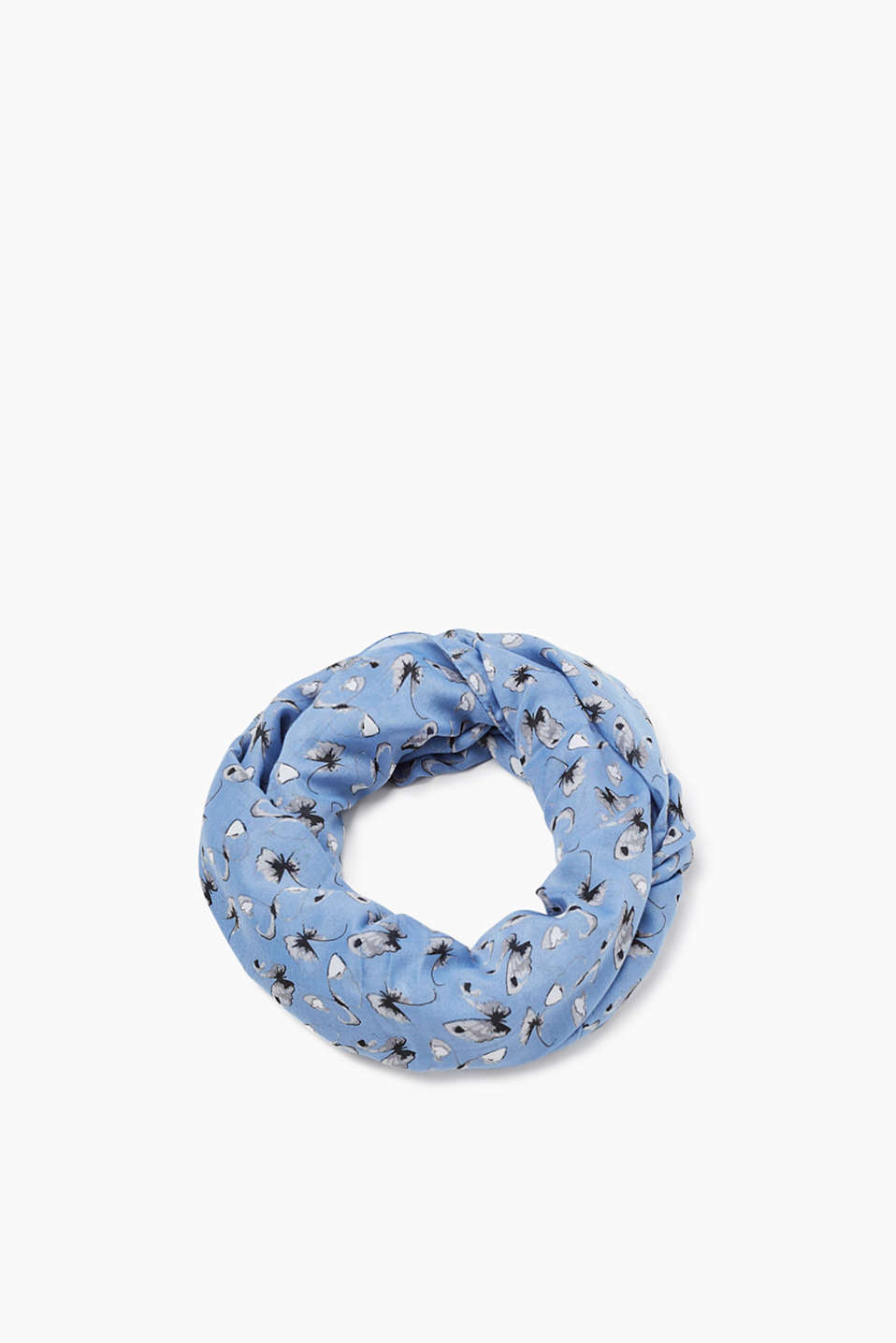 Made of soft fabric: snood with an all-over print