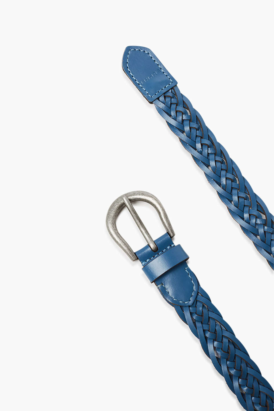 In a braided look: Belt with metal buckle