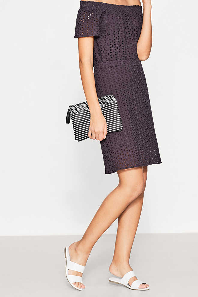 Esprit / Clutch con zip in similpelle