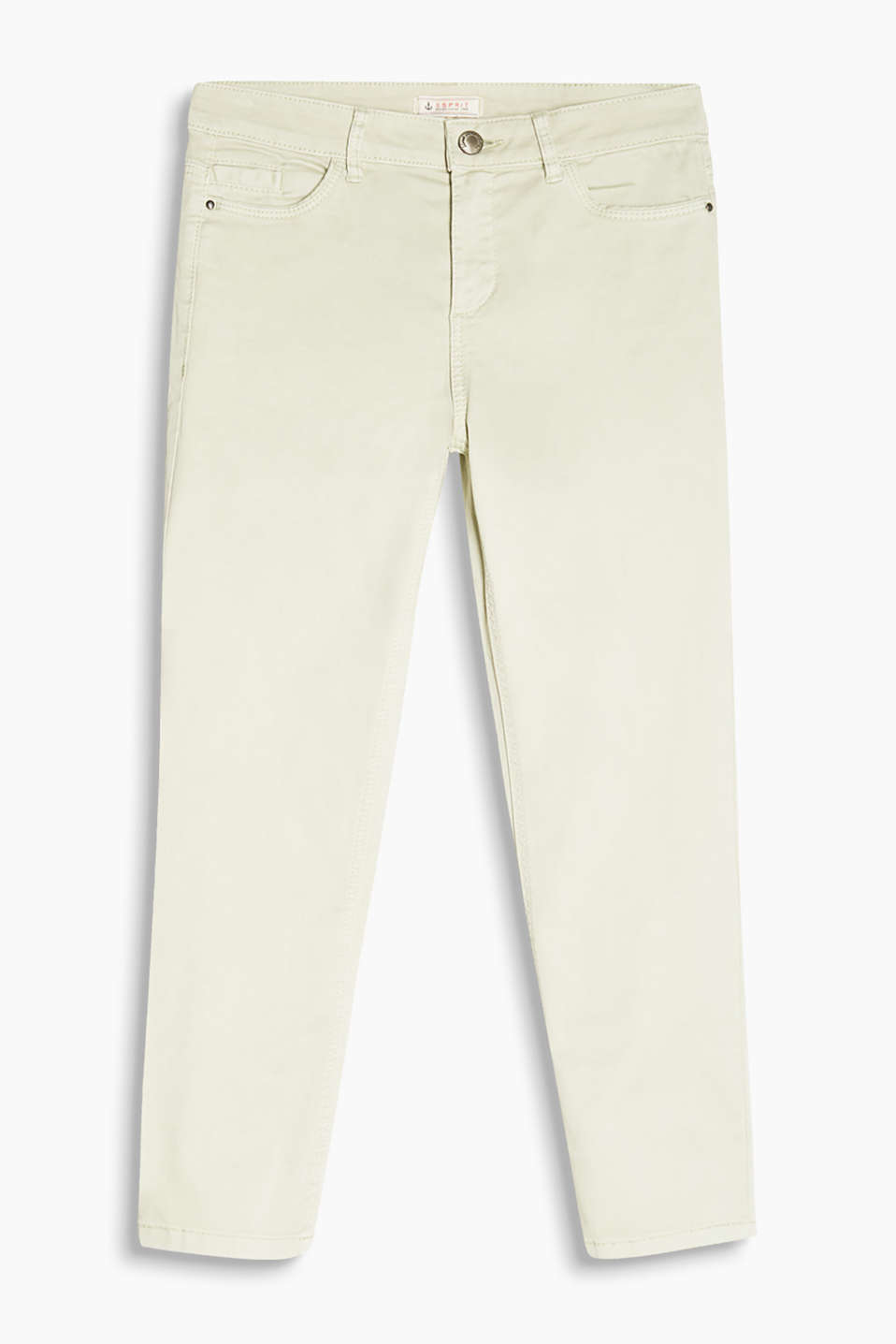 Soft stretch cotton capris with a satin finish