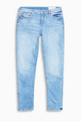 Bleached Stretch-Denim im Used-Look