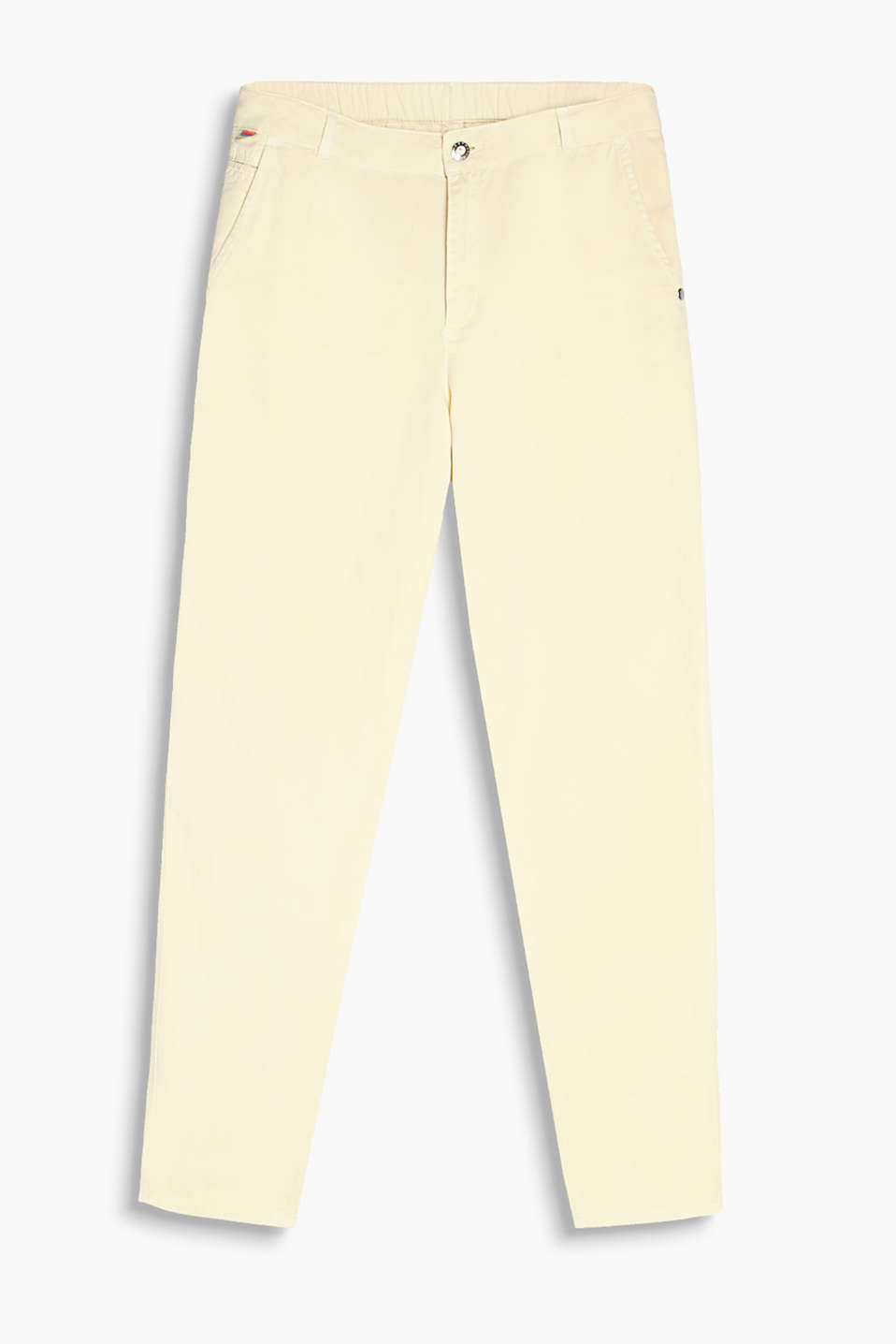 Retro Collection – chinos with an elasticated waistband and added stretch for comfort, organic cotton