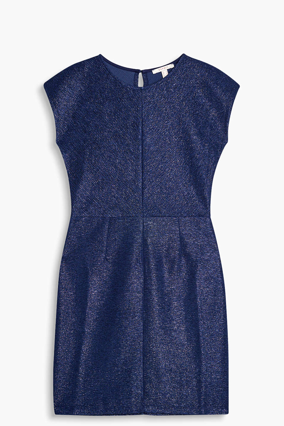 Glittery sheath dress in crinkle jersey