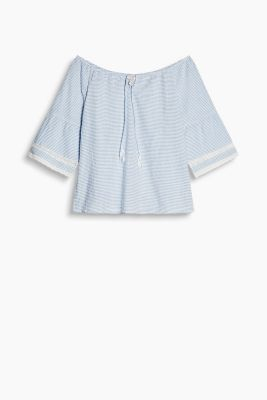 Off-Shoulder-Bluse aus 100% Baumwolle