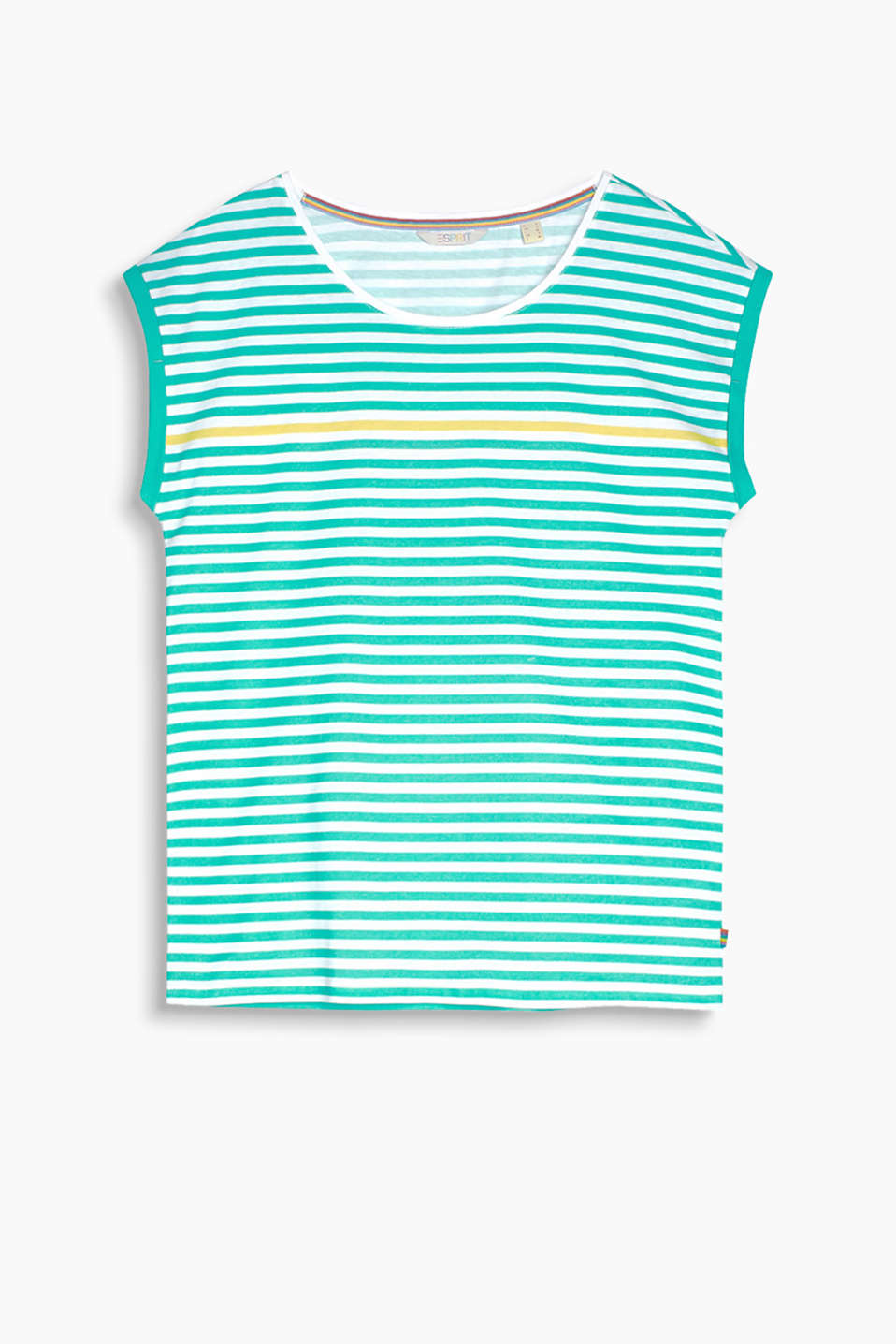 Retro Collection – T-shirt with bold stripes, organic cotton