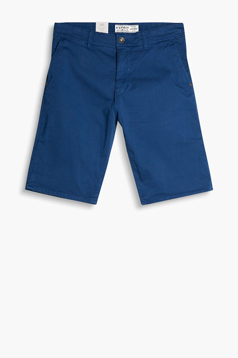 5-pocket shorts in 100% cotton with added stretch for comfort