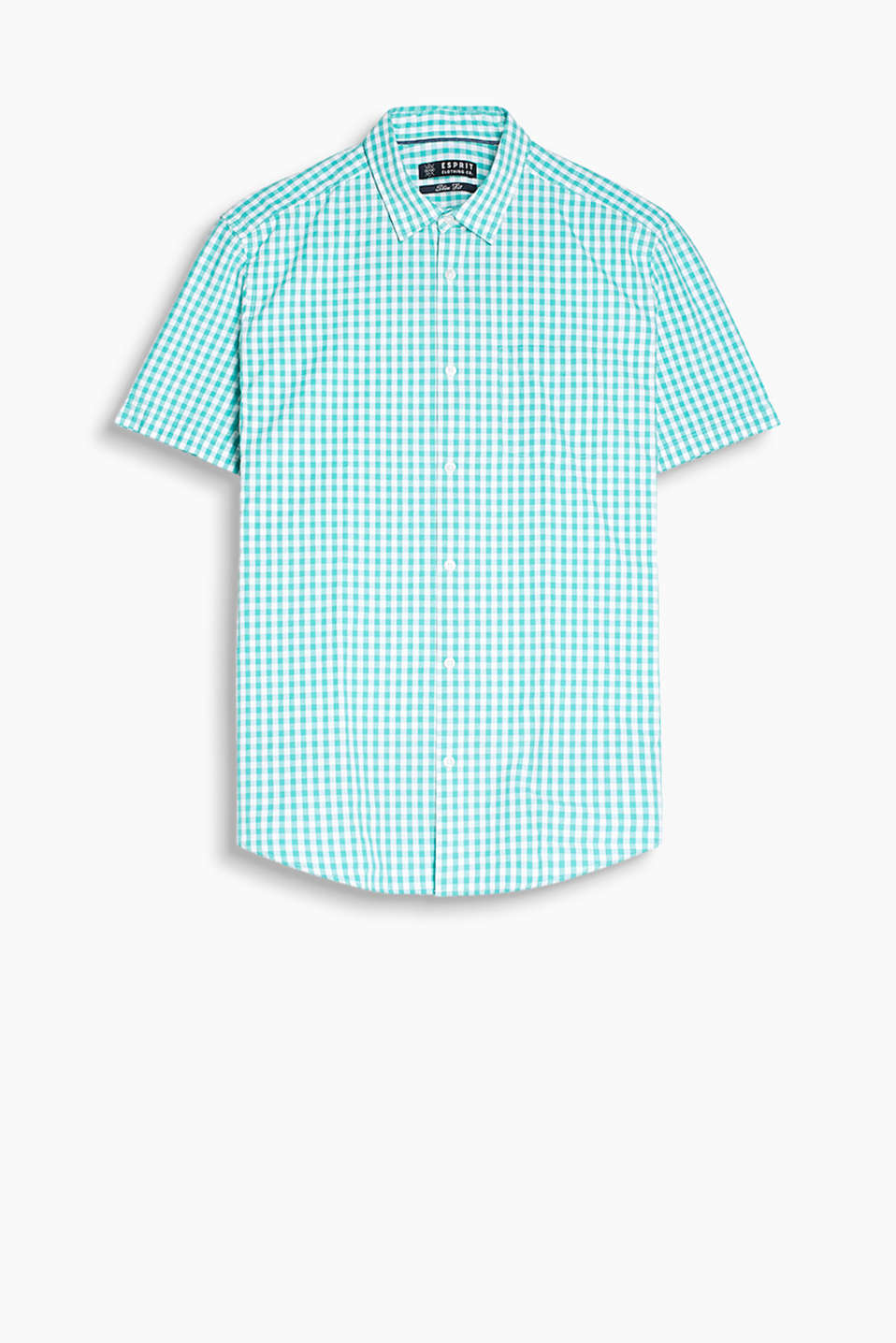 Sensationally summery shirt with a brightly coloured, glencheck pattern