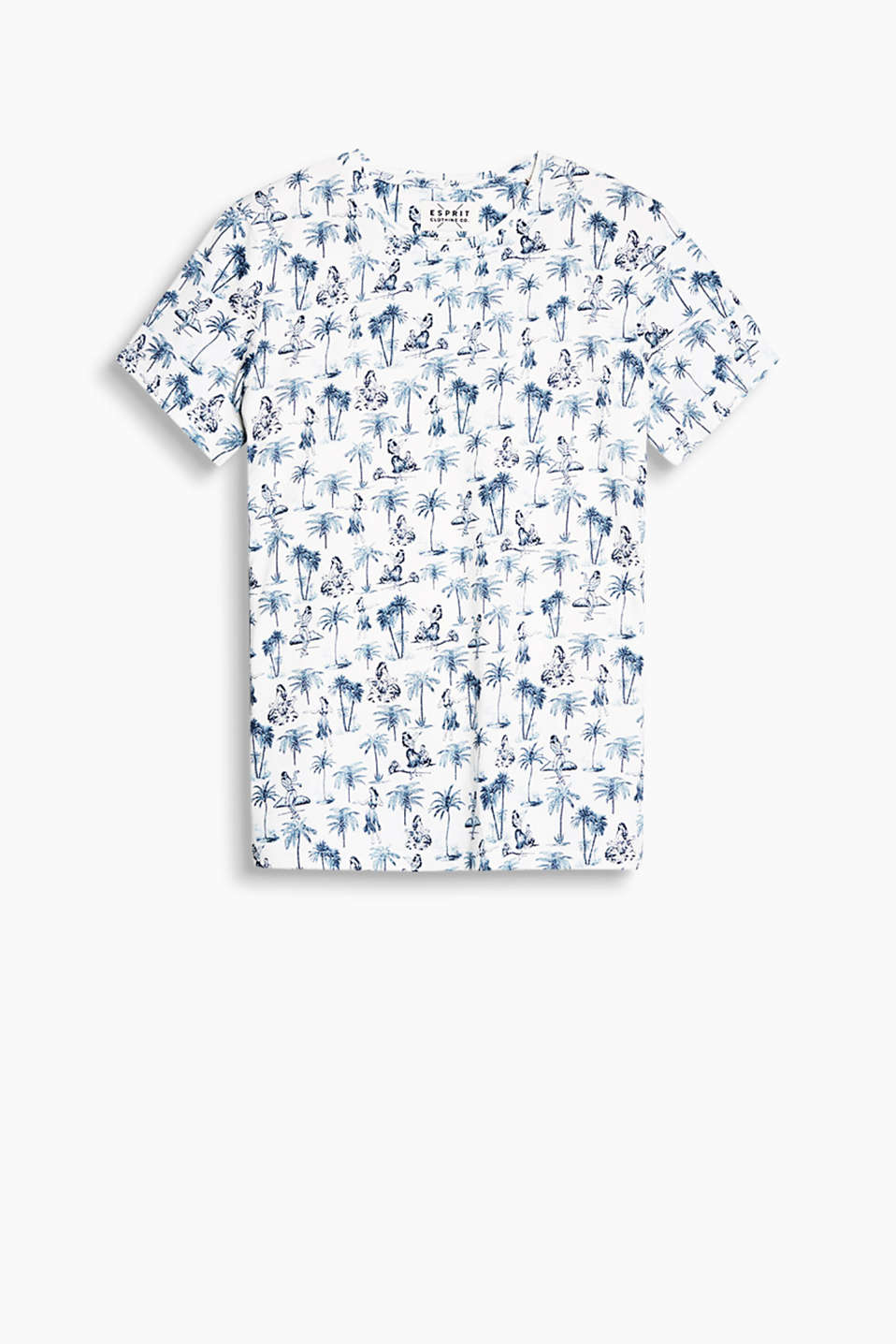 Made of 100% cotton: T-shirt with Hawaii motifs