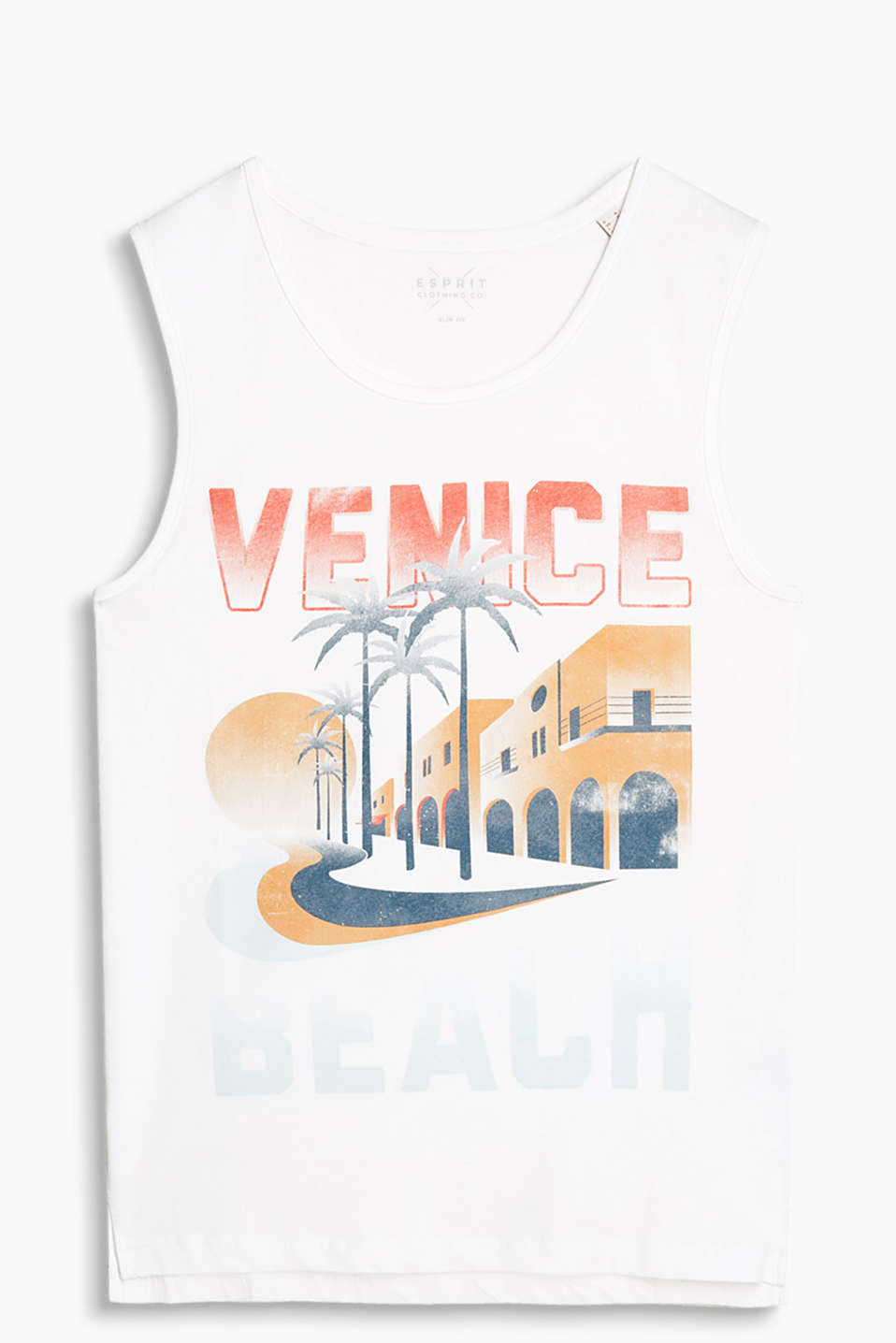 100% cotton vest with alluring city artwork