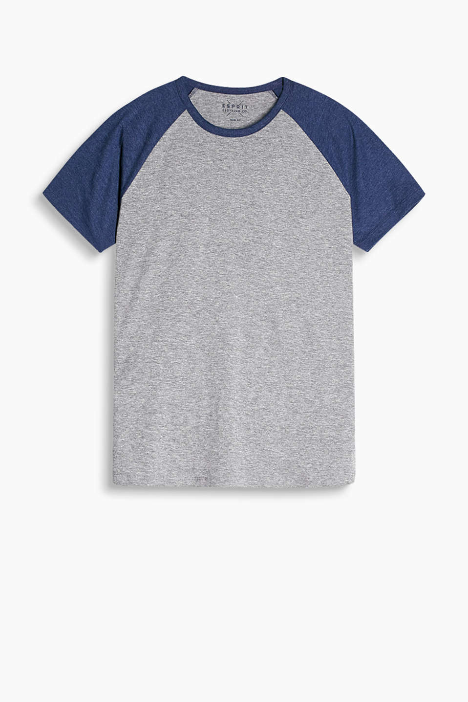 Raglan sleeve T-shirt made of soft blended cotton