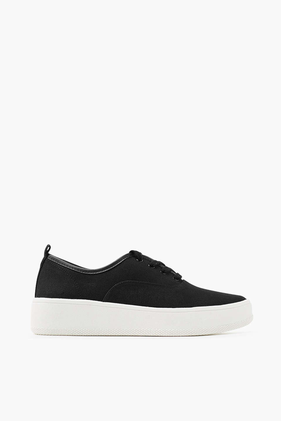 Flatform-style trainers in 100% cotton